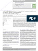 Household Participation and Effects of Community Forest Management on Income and Poverty