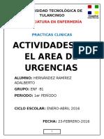 Actividades en Urgencias