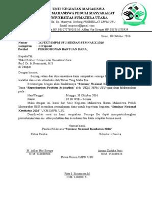 Surat Permohonan Bantuan Dana Biro Rektor 1