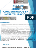 Cálculo de Electrolitos Concentrados en Hospitalización