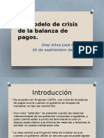 Un Modelo de Crisis de La Balanza De Pagos