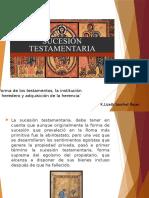 SUCESIONES TESTAMENTARIAS Derecho Romano