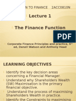Lec 1 Finance Function