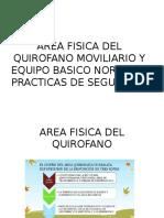 AREA FISICA DEL QUIROFANO MOVILIARIO Y EQUIPO BASICO.pptx