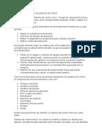 Introducción a los Sistemas de Control, Resumen