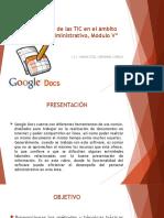 Aplicación de Las TIC (Google Docs)