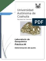Determinación del punto isoelectrico de un mineral