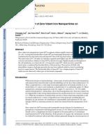 Bactericidal Effect of Zero-Valent Iron Nanoparticles on Escherichia coli