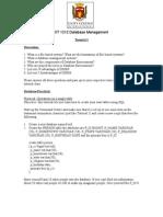 Database Management(Tutorial 1)