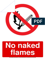 No Naked Flames Prohibition Sign