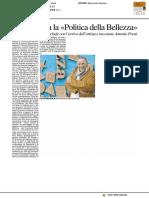 """Protagonista """"La Politica della bellezza"""" - Il Resto del Carlino del 24 novembre 2016"""
