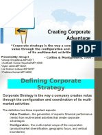 Creating Corporate Strategy