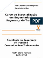 Psicologia Na Engenharia de Segurança, Comunicação E Treinamento