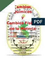 2º Informe de Lab. de Química - Cambios Físicos y Químicos