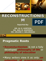 A Report on Reconstructionism