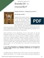 Teologia Mileniului III - o Teologie a Provocarilor