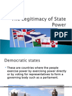 the legitimacy of state power  1