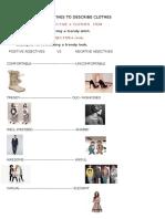 Adjectives to Describe Clothes