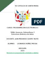 Herencia, Poliformismo, Estructura Dinámica de Datos