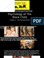The Developmental Psychology of the Black Child Slides