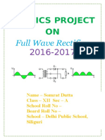 Physics Project on Full Wave Rectifier Class 12 CBSE