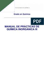 Manual Practicas Q. Inorganica III