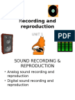 Recording and Reproduction