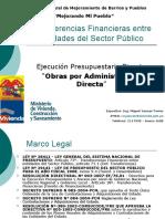 Transferencias Financieras Modalidad Ejecucion Presupuestaria Directa