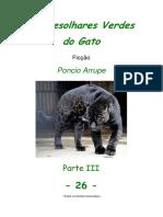 Cap. 26 - OS DESOLHARES VERDES DO GATO, por Pôncio Arrupe