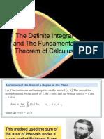 Definite Integral of Fundamental Theorm of Calculus