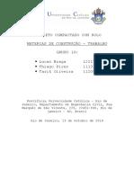 Trabalho Materiais de construção da PUC-RJ