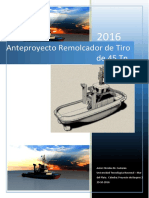 Anteproyecto Remolcador 45 Toneladas y Planos