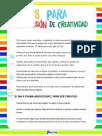 Tips de Creatividad