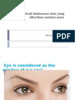 Studi Biofarmasi Obat Yang Diberikan Melalui Mata