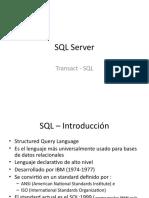 SQL Server - Transact SQL