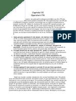 Capitolul XI- Operatorii PR