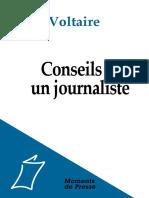 VOLTAIRE Conseils Journalistes