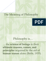 What Philosophy is Not