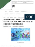 APRENDENDO a LER O MUNDO_ a Geografia Nos Anos Iniciais Do Ensino Fundamental - PsicoEducação