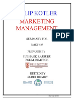 Summary BMKT 525 Marketing Management