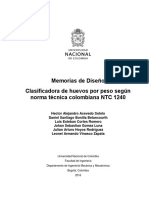 Clasificadora de Huevos Según Norma Técnica Colombiana NTC 1240