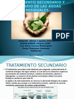 Tratamiento Secundario y Terciario de Aguas Residuales