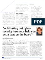 Could Taking Out Cyber-security Insurance Help You Get a Seat on the Board