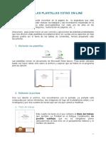 Uso de Las Plantillas CSTAD Online