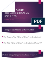King of Kings Presentation--BS Seminar--FA 2014