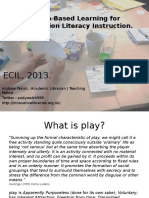 ECIL Game Based Learning for Information Literacy Instruction