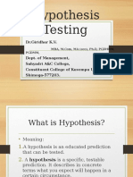 Hypothesis Testing - By Dr.Giridhar K.V.