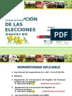 La Inscripcion de Las Elecciones Anuales