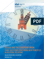 Valdai Club Report 2016 -Russia and the EU