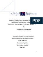 Impact of Back to Back Payment Clause on the Cash Flow of Subcontractor in the UAE (2013)